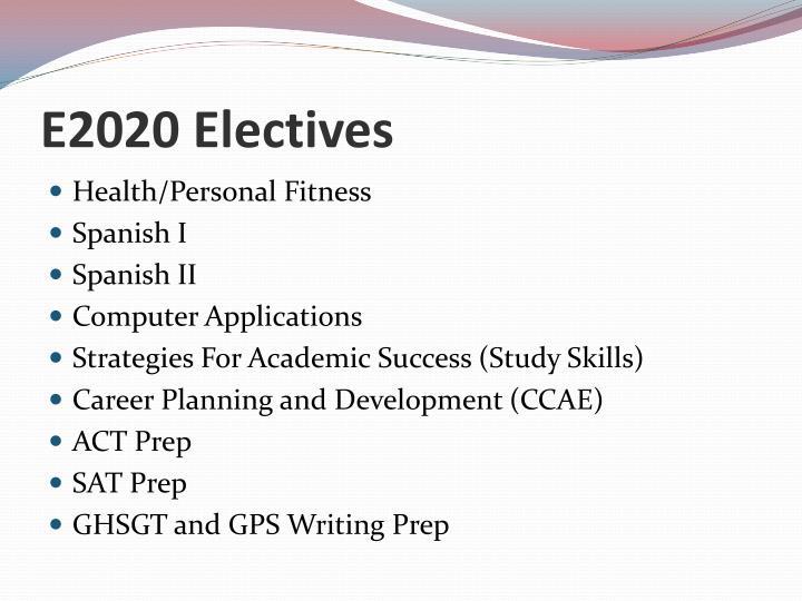 E2020 Electives