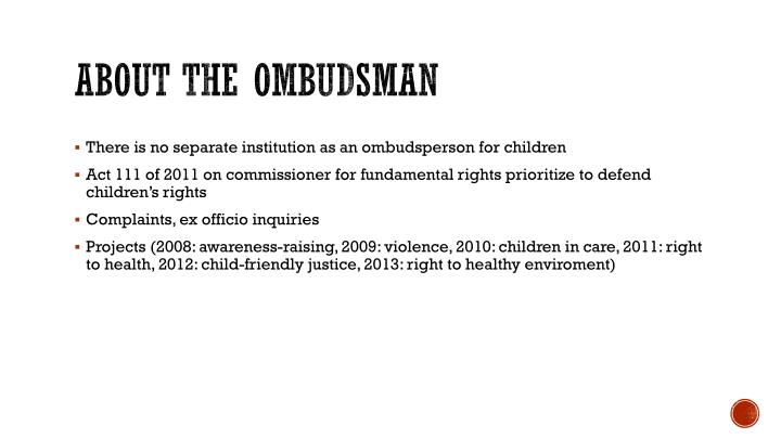 About the ombudsman