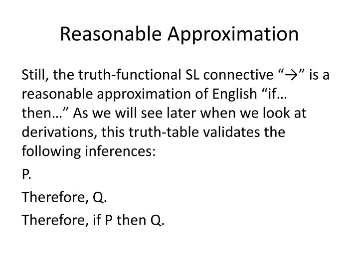 Reasonable Approximation