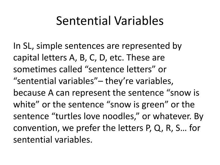 Sentential Variables