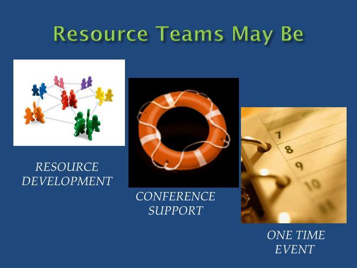 Resource teams may be