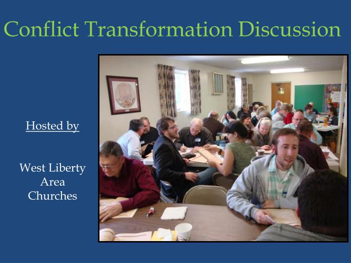 Conflict Transformation Discussion