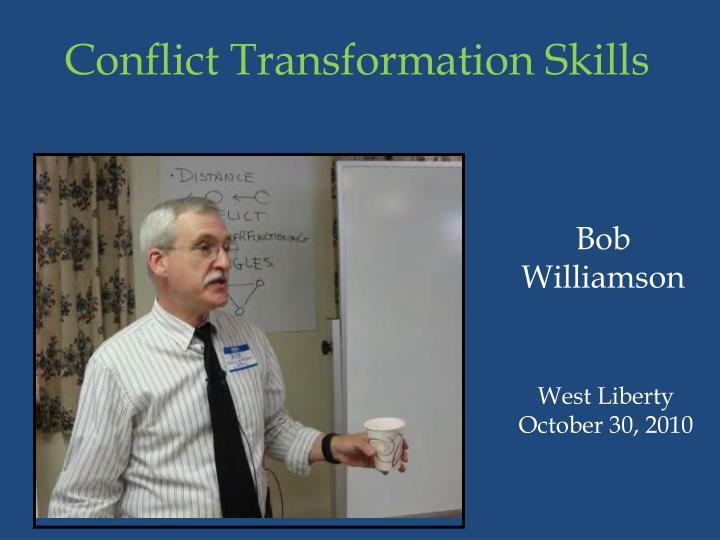 Conflict Transformation Skills