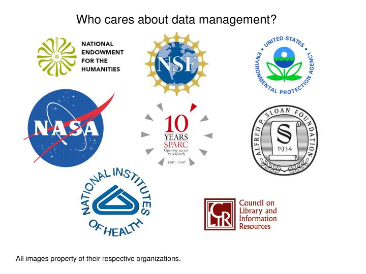 Who cares about data management?