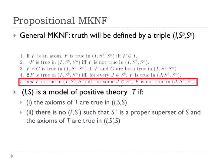 Propositional MKNF