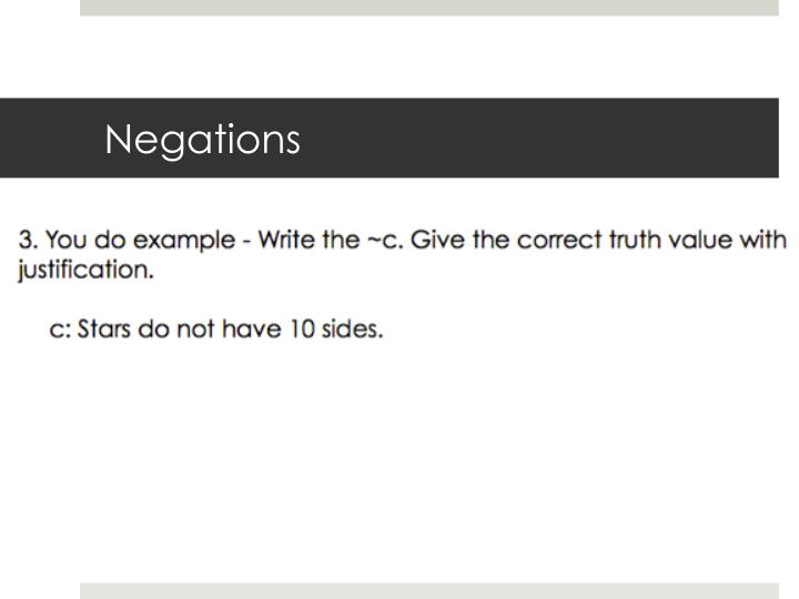Negations