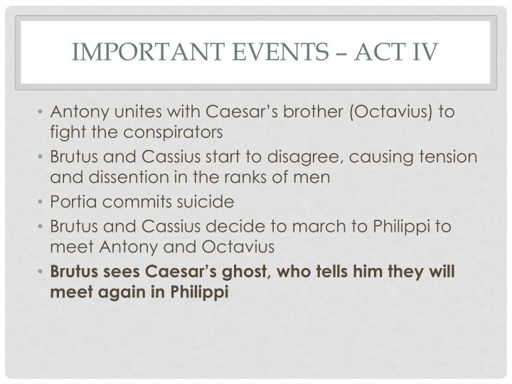 Important events act iv