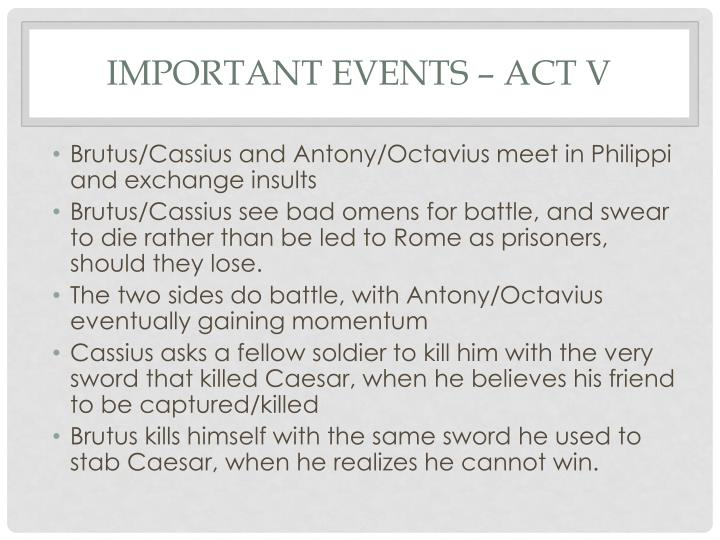 Important events act v