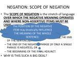 negation scope of negation