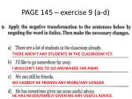 page 145 exercise 9 a d