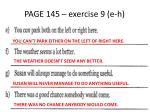 page 145 exercise 9 e h