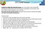 fif fund vision