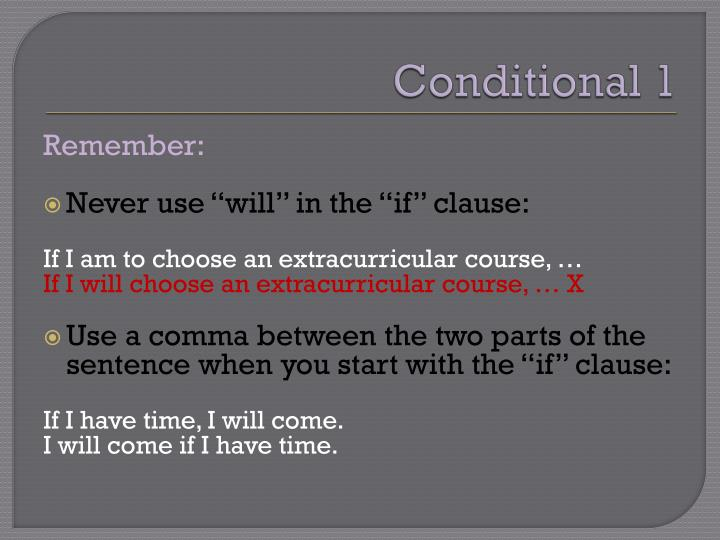 Conditional 1