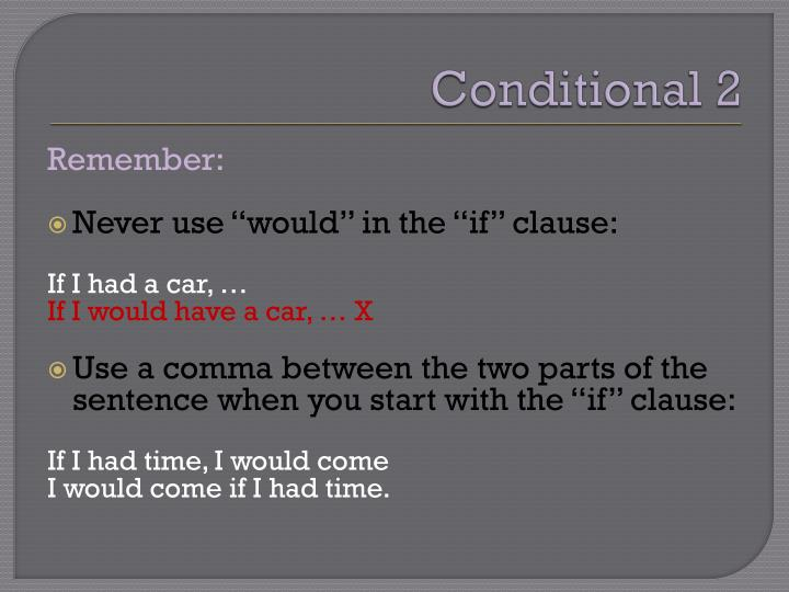 Conditional 2
