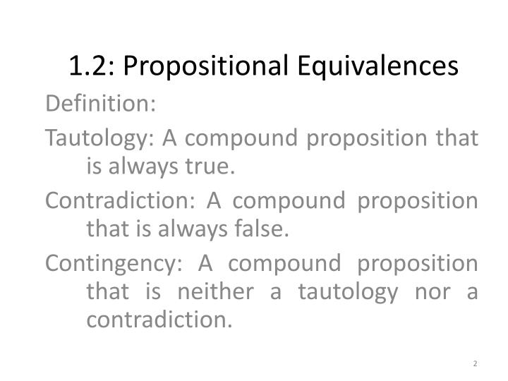 1 2 propositional equivalences