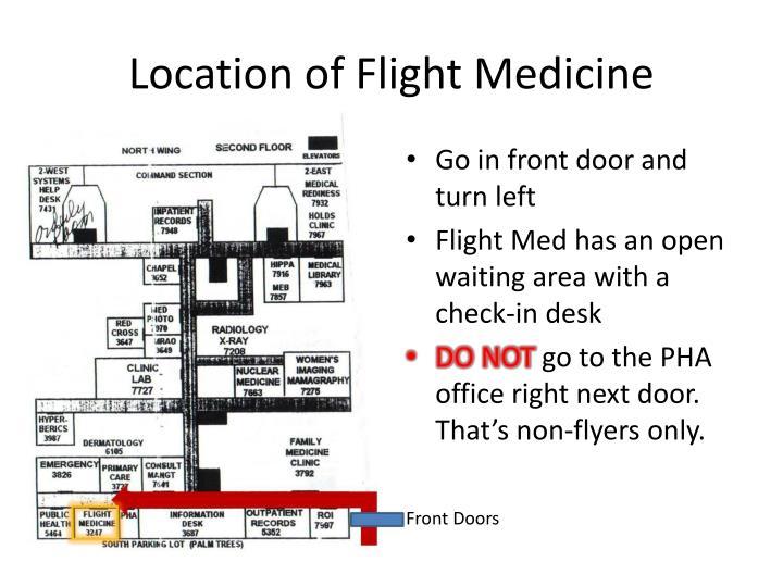 Location of Flight Medicine