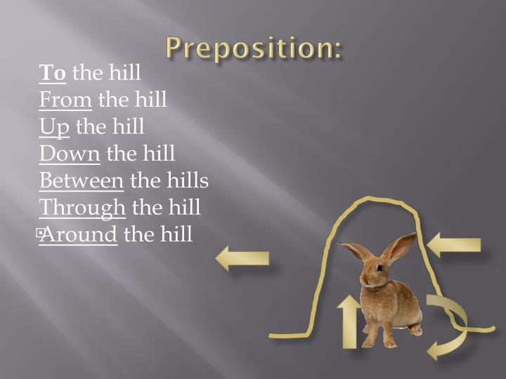 Preposition:
