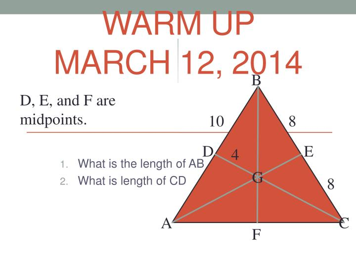 Warm up march 12 2014