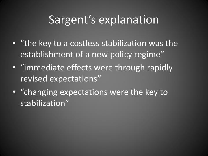 Sargent's