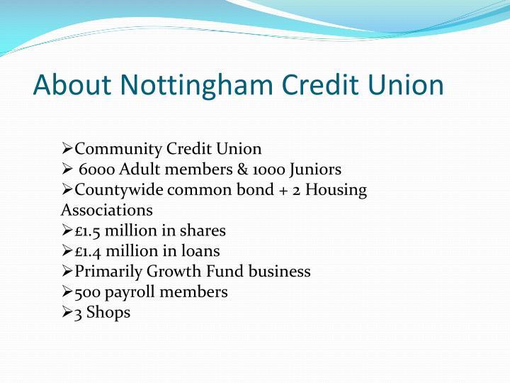 About nottingham credit union