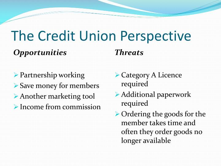 The Credit Union Perspective