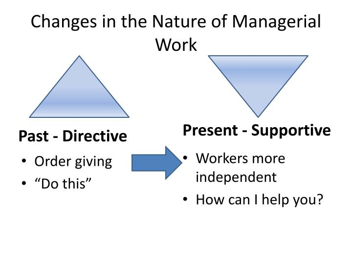 Changes in the Nature of Managerial Work
