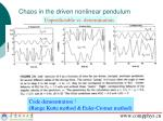 chaos in the driven nonlinear pendulum