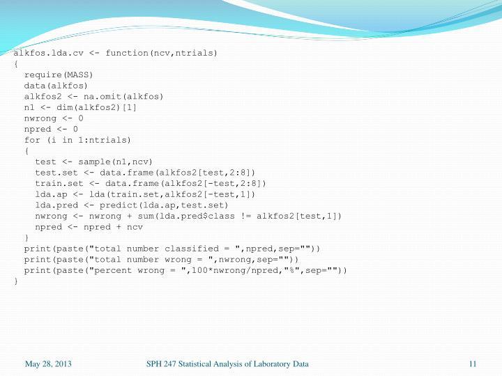 alkfos.lda.cv <- function(