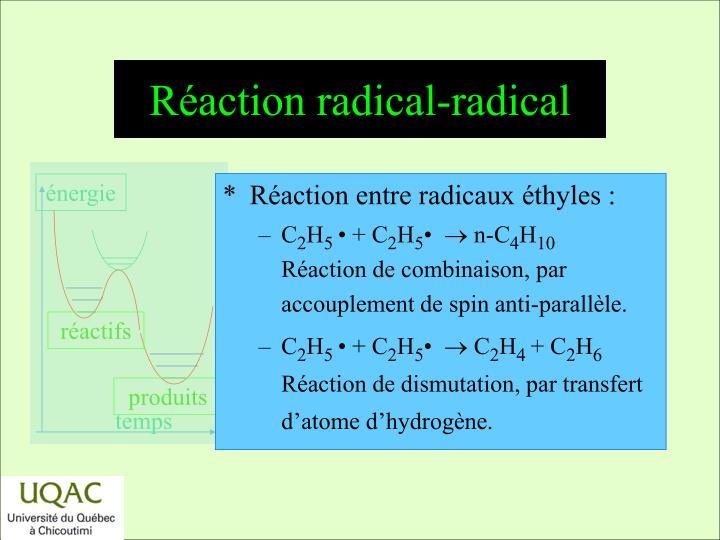 R action radical radical