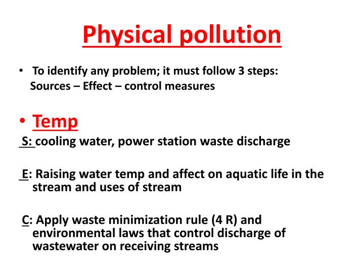 Physical pollution