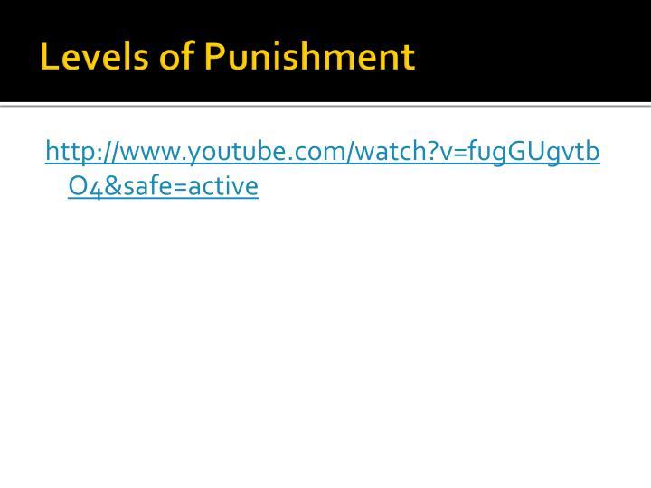 Levels of Punishment