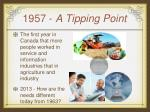 1957 a tipping point