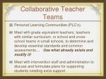 collaborative teacher teams