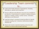 leadership team commits to