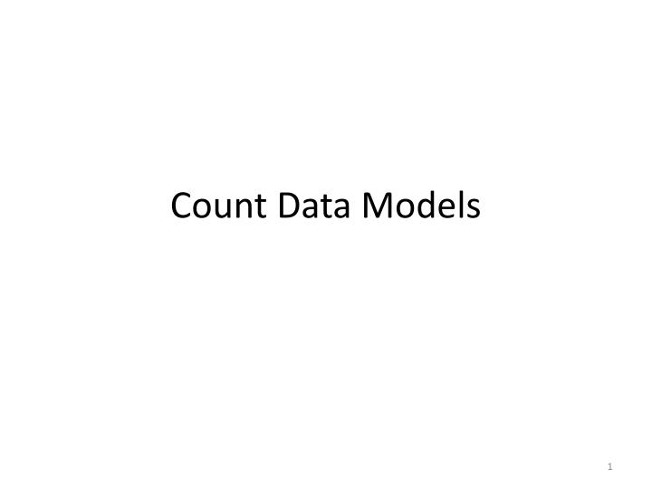 Count data models