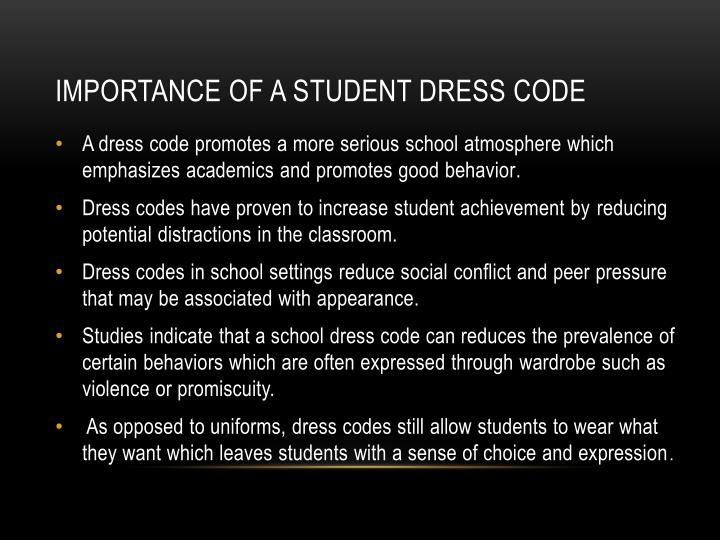 Importance of a student dress code