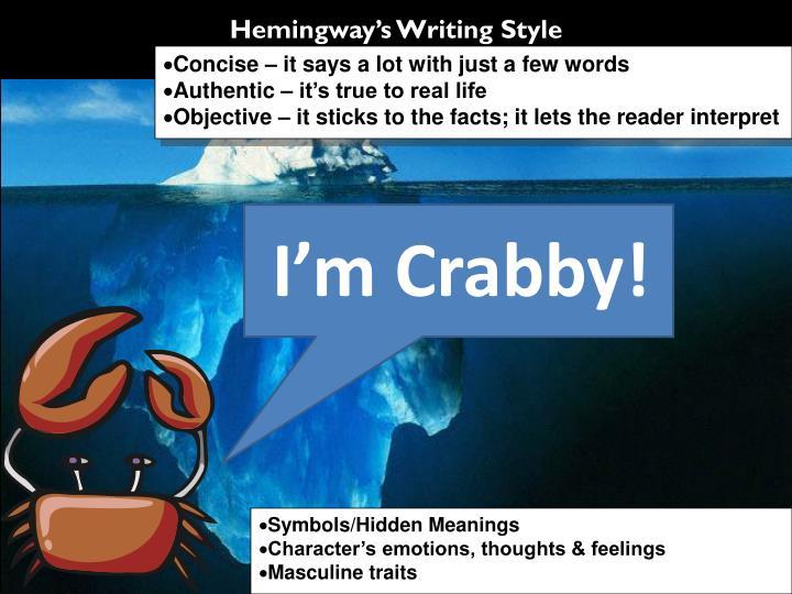 Hemingway's Writing Style