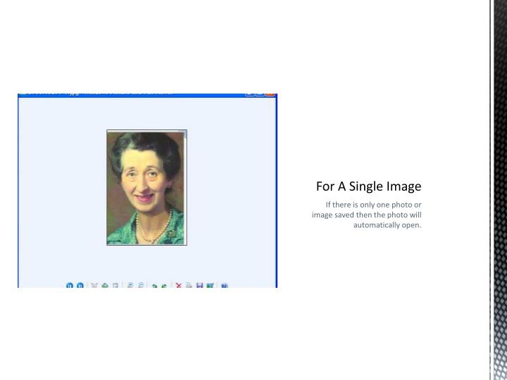 For A Single Image
