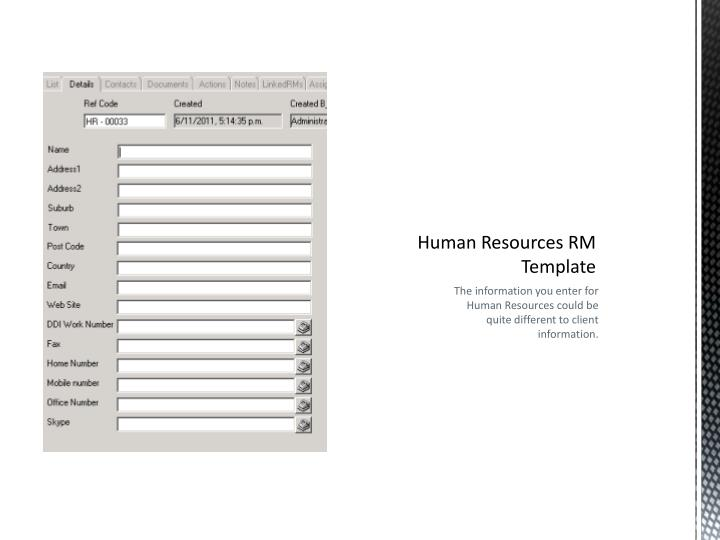 Human Resources RM Template