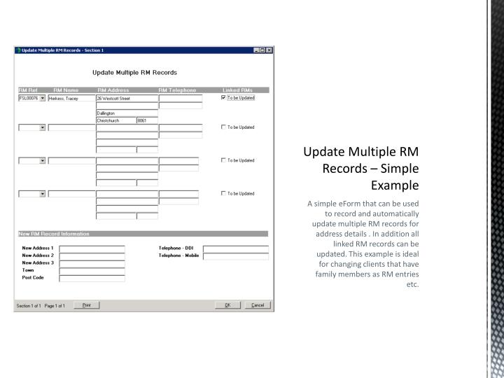 Update Multiple RM Records – Simple Example