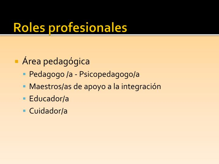 Roles profesionales
