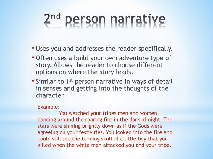 2 nd person narrative