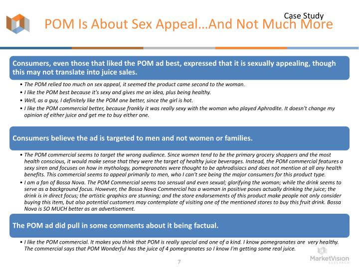 POM Is About Sex Appeal…And Not Much More