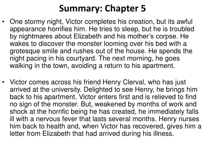 Summary chapter 5