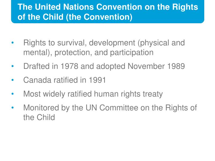 The United Nations Convention on the Rights