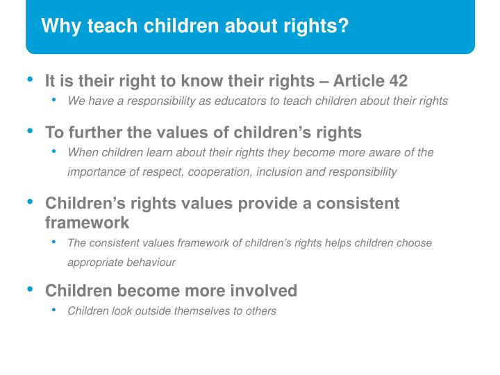 Why teach children about rights?