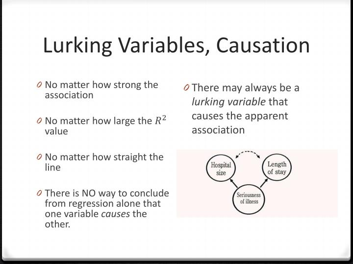 Lurking Variables, Causation