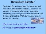 omniscient narrator