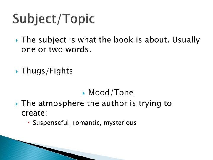 Subject/Topic