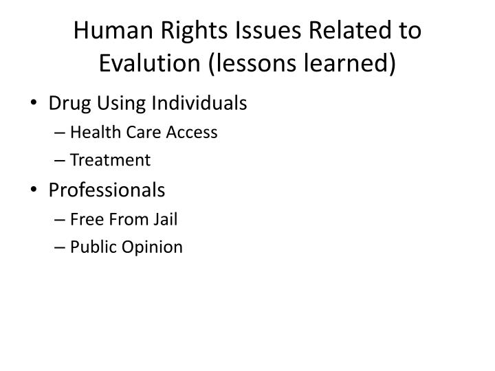 Human Rights Issues Related to